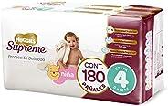 Huggies Supreme Pañal Desechable para Bebé, Etapa 4 Niña, Caja con 180 Piezas, Ideales para niñas de 9 a 12 kg