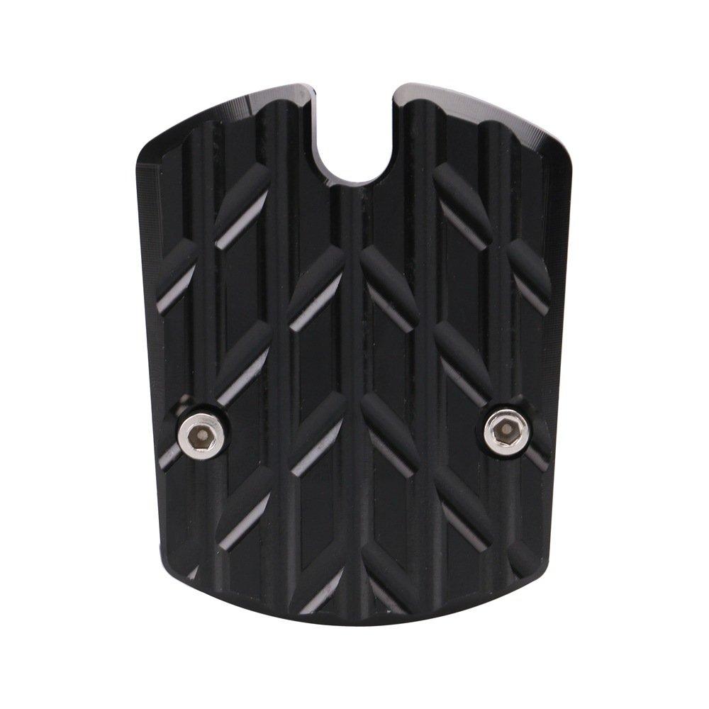 ETbotu Motorcycle CNC Sidestand Foot Plate Kickstand Pad for Motorbike Yamaha Nmax155 N-Max 155 Black