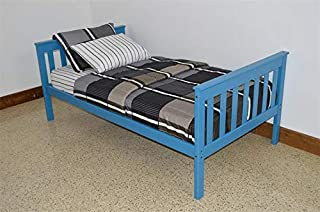 product image for DutchCrafters Amish Kids Twin Mission Bed (Paint - Carribean Blue)