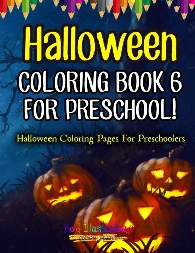 Halloween Coloring Book 6 For Preschool! Halloween Coloring Pages For -