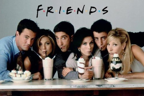 Friends Milkshake Poster Print