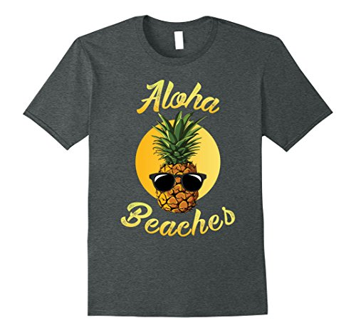 Mens Pineapple Sunglasses Aloha Beaches Hawaii - Hawaiian T-shirt XL Dark - Sunglasses Aloha