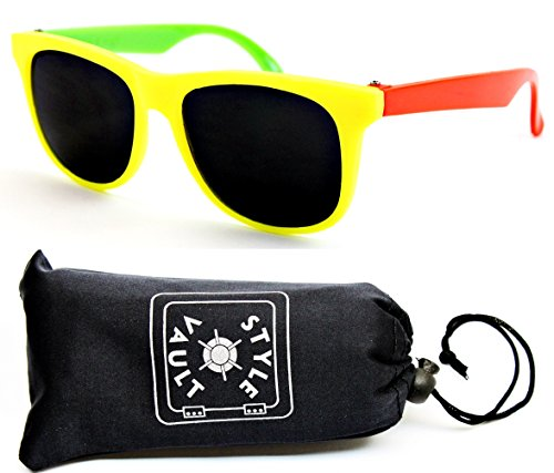 Kd3006-op Kids Babies (0~12 Month) 0~1year Old Sport Sunglasses (B1843F Yellow/Neon Orange/Green) (80s Neon Fashion)