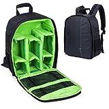 Camera Backpack DSLR Hiking Camera Bag Waterproof for Canon - Nikon - Sony - Olympus - Samsung - Panasonic - Pentax Cameras (Green)