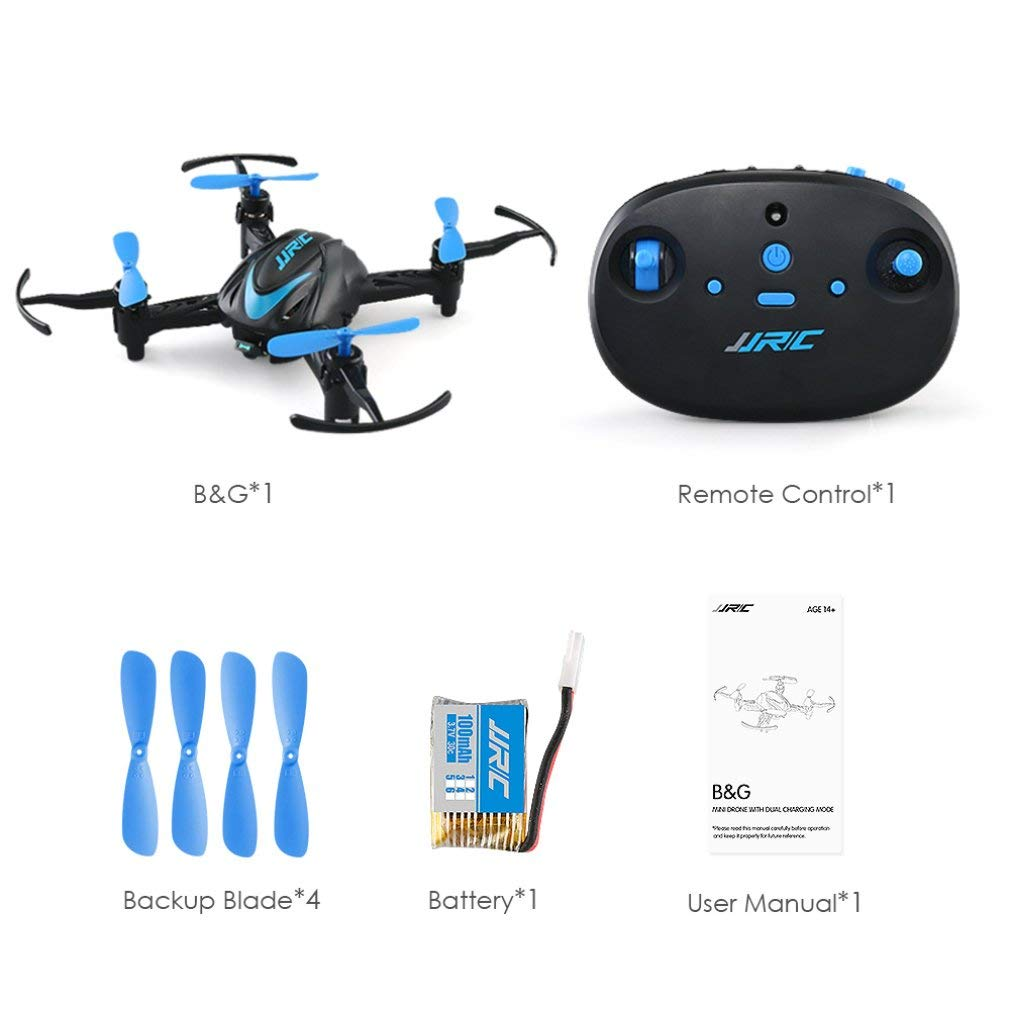 leoboone JJR/C H48 4CH RC Mini Pocket Drone Quadcopter Infrared Remote Control with 3D Flips Mode for Beginners Kid Gift