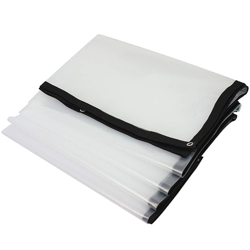 Clair 1X1m T-ShommeET BÂche Transparente Imperméable à l'eau Robuste Couvrant Le Tissu De Pluie Film Isolant Antigel Antipoussière Anti-Âge Extérieur (LxW 2X5m) Tentes Stores