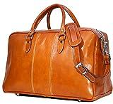 Floto Luggage Venezia Trunk Duffle Bag in Olive (Honey) Brown Leather