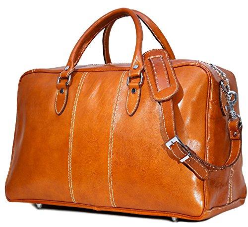 a Trunk Duffle Bag in Olive (Honey) Brown Leather (Venezia Canvas Duffle Bag)