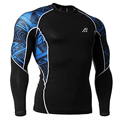 Men's 3d Prints Long Sleeves Compression Shirt GYM Sport Running Training Bodybuilding Tops