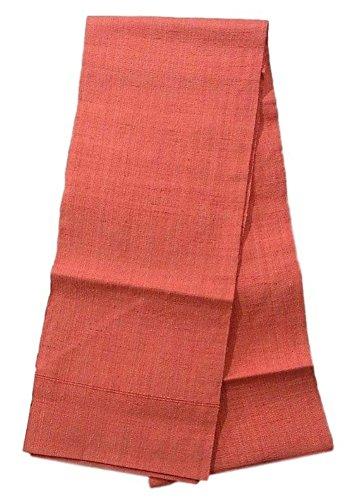 テスピアン雄弁な悪名高い名古屋帯 リサイクル 紬 八寸 ピンク 正絹