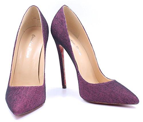 Taille Ubeauty Grande Violet Talons Sexy Féminins Classiques Escarpins De Casual Hauts Femmes zTzqaFf