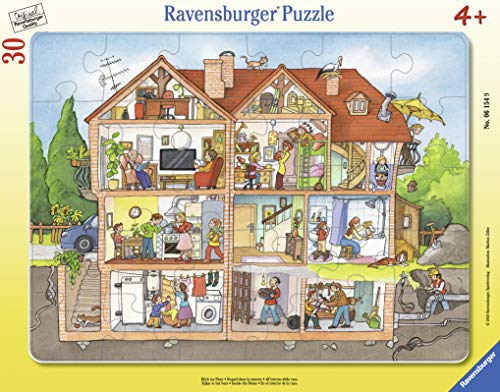 - Ravensburger 06154, Inside The House 30 Piece Frame Tray Puzzle for Kids, Every Piece is Unique, Pieces Fit Together Perfectly
