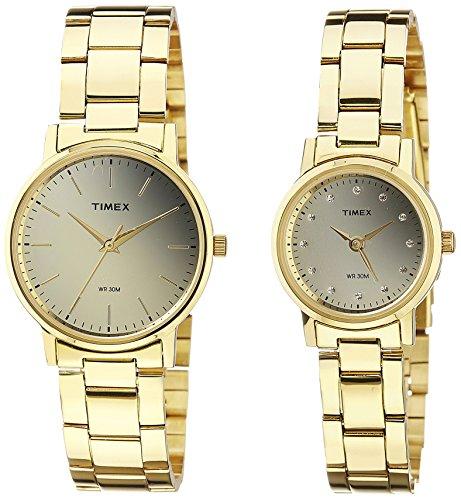 Timex Classics Analog Gold Dial Watch Sets TW00PR196