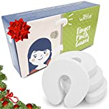 Baby : Finger Pinch Guard (4pk) by Wittle. This Easy to Use Foam Door Stopper will Prevent Baby Finger Pinch Injuries, Stop Door From Slamming, and Child & Pets from Accidentally Getting Locked in Room!