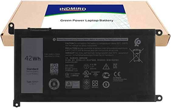 INDMIRD 51KD7 New Laptop Battery for Dell Chromebook 11 3100 3180 3189 5190 3181 2-in-1 Series Notebook Replacement Original Y07HK FY8XM K5XWW J0PGR 11.4V 42Wh//3500mAh