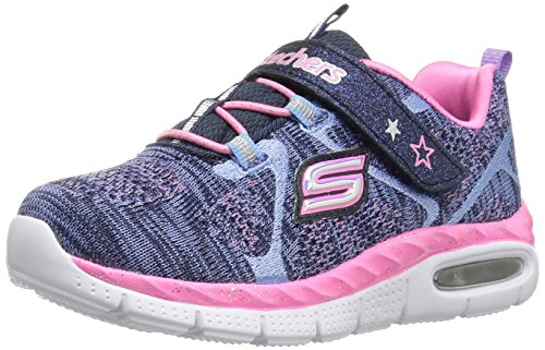 Skechers Kids Girls' Air-Appeal-Breezy Baby Sneaker,Navy/Pink,