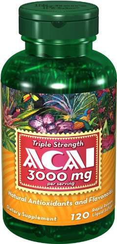 Puritans Pride Triple Strength Acai 3000 Mg, 120 Count