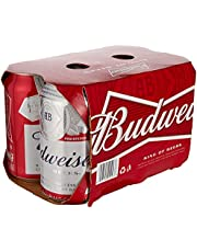 Budweiser Beer Can, 355 ml, (Pack of 6)