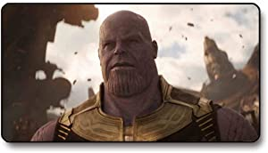 Thanos Mouse Pad Extended Mouse Mat/Desk Pad with Non-Slip Rubber Base, Anti-Fraying Stitched Edges Mousepad for Office Home Computer Accessories