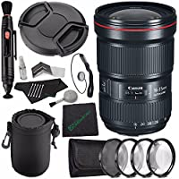 Canon EF 16-35mm f/2.8L III USM Lens + 82mm +1 +2 +4 +10 Close-Up Macro Filter Set with Pouch + LENS CAP 82MM + SLR Lens Pouch + Lens Pen Cleaner + Microfiber Cleaning Cloth + Lens Cap Keeper Bundle