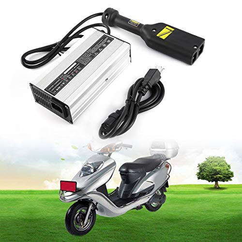 Golf Trolley Battery Charger, 36 Volt Lead-Acid Battery Trickle Charging Mode Charger with Aluminium Alloy Shell, for Star Ez Go Club Car DS EZGO TXT