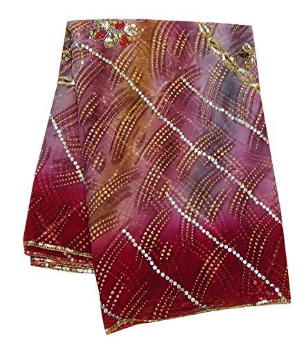 Beaded Scarf Pattern - Peegli Indian Vintage Dupatta Floral Beaded Scarves Georgette Blend Fabric Pink Stole Women Neck Wrap Scarf