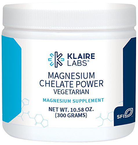 Klaire Labs Magnesium Chelate Powder - Fast-Dissolving 200 mg High Absorption TRAACS Bisglycinate, Vegetarian & Hypoallergenic (10.58 Oz / 300 G)