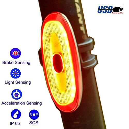G Keni Smart Bike Tail Light Wireless Auto On/Off Rear Bike Light USB Rechargeable LED Bicycle Brake Sensing Taillight Waterproof