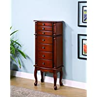 Coaster 900125 Jewelry Armoire with Antiqued Hardware, Brown