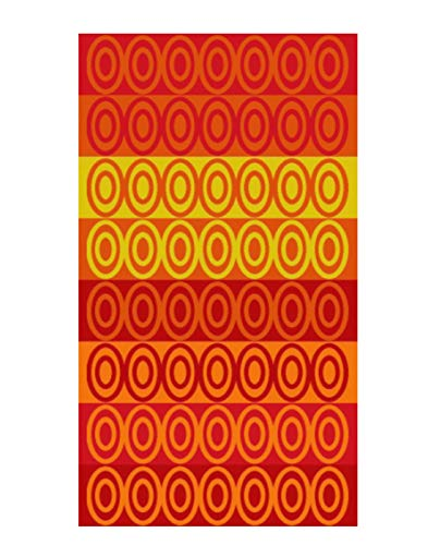 Espalma Over Sized Luxury Beach Towel, Large Size 70 Inch x 40 Inch Soft Velour and Reversible Absorbent Cotton Terry, Thick and Plush Jacquard Beach Towel, Circles