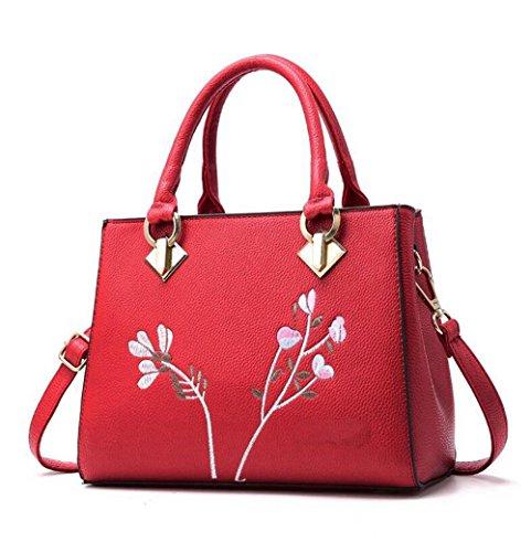 SSMENG Bolso de hombro 2018 Messenger Bags Mujeres Bolso de flores Mujeres Bolsas de hombro Mujeres Pu Bolsas de cuero Ladies Bags, F F