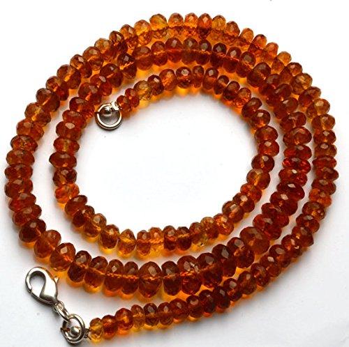 1 Strang Natur 45,7 cm Super Rare AAA Golden Dark Citrin facettiert Rondelles Form Perlen Halskette Größe 3 bis 8 mm