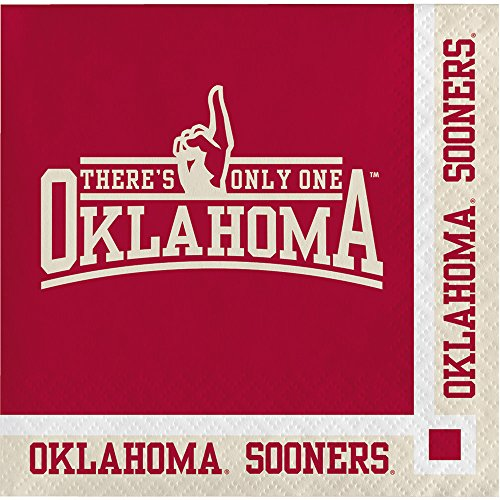 - Oklahoma Sooners Beverage Napkins, 20-Count