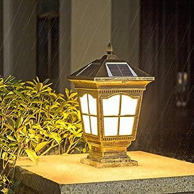 ZMLG Luz Solar Jardin Exteriores, LED Faros De Columna IP65 Impermeable Linterna Solar con Control Remoto Temporización Lámpara De Decoracion para Camping, Terraza, Camino: Amazon.es: Hogar