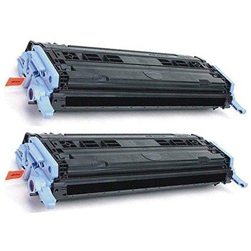 Black Cm1017mfp Toner (HOTCOLOR 2 Black Q6000A Toner For 124A Q6000A Color LaserJet 1600 2600n 2605dn 2605dtn CM1015mfp CM1017mfp Printer)