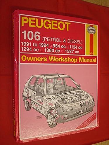 peugeot 106 petrol and diesel owners workshop manual service rh amazon com Peugeot 204 Peugeot 306