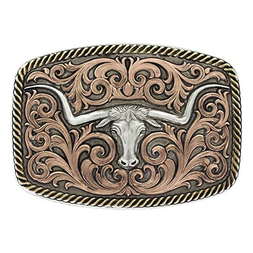(Montana Silversmiths Tri-Color Champion Texas Longhorn Buckle (33010TRI))