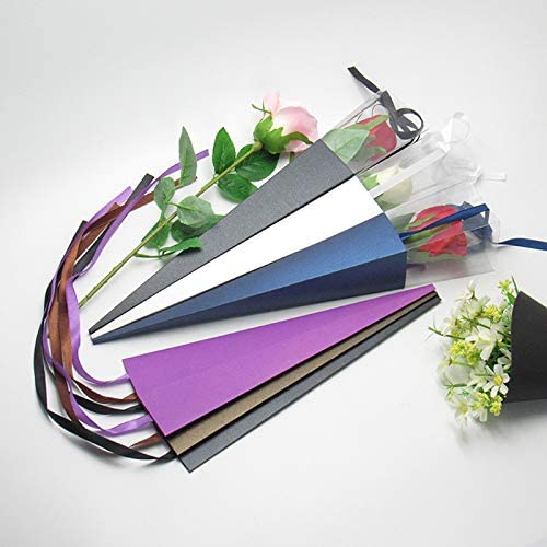 Plastic Single Flower Rose Box Triangular Box Sweet Bouquet Wrapping Paper