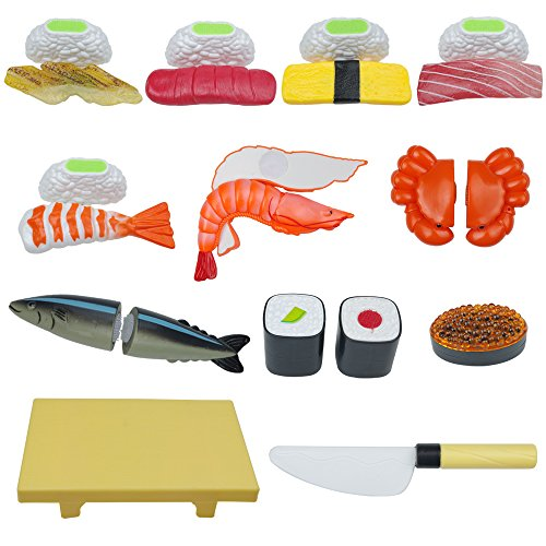 - Pretend Play Kitchen Set, Sushi Slicing Play Food Set, 12 Pcs Cutting Food Play Set for Kids, Kitchen Food Toys Playset for Children Girls Boys