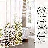 Hogoo Green Leaf Washable Fabric Shower Curtain Mildew Resistant for Bathroom,72 x 72 Inch