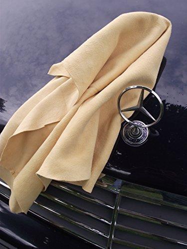 37 opinioni per Pelle Di Daino per auto, Panno in pelle Originale- Misure speciali 55x85 cm