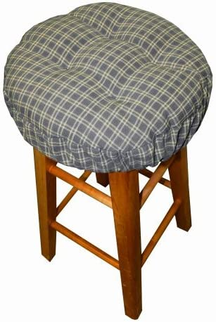 Padded Bar Stool Cover - Britt Slate Blue Plaid - Size Standard Latex Foam Fill Bar  sc 1 st  Amazon.com & Shop Amazon.com | Stool Covers islam-shia.org