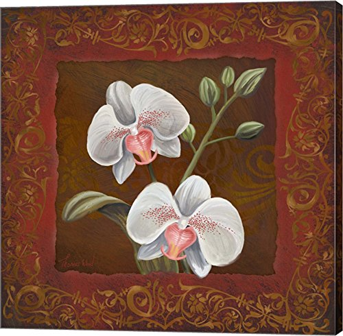 Orchid Study II by Tom Wood  - red floral wall decor