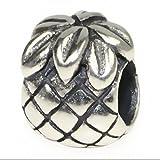 Beads Hunter Jewelry Pineapple Solid Silver European Bead Charm Fits Pandora Biagi Troll Chamilia Cable Bracelets