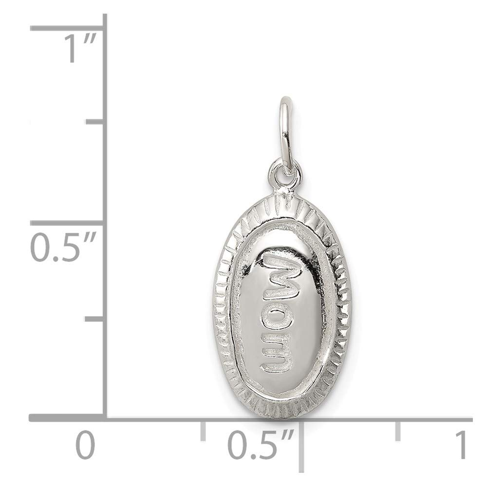 Bonyak Jewelry Sterling Silver Polished MOM Charm