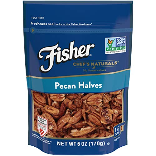 FISHER Chef's Naturals Pecan Halves, No Preservatives, Non-GMO, 6 ()