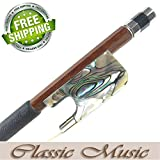 Classic Music Silver Permanbuco Viola Bow with Abalone Shell frog (4/4), Mongolian Horse Hair