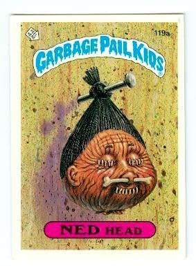 Garbage Pail Kids Sticker Trading Card 1986 Topps 119a