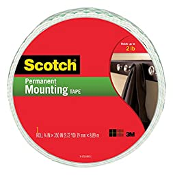 Scotch Indoor Mounting Tape, 0.75-inch x 350-inches, White, 1-Roll (110-Long)
