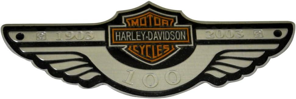 2x OEM Harley Davidson Fuel Tank Chrome Emblems Badges Dyna Sportster Street 3D logo Replacement for F-150 F250 F350